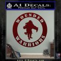 Wounded Warriors Decal Sticker CR Dark Red Vinyl 120x120