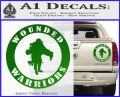 Wounded Warriors Decal Sticker CR Green Vinyl 120x97
