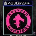 Wounded Warriors Decal Sticker CR Hot Pink Vinyl 120x120