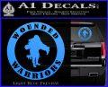 Wounded Warriors Decal Sticker CR Light Blue Vinyl 120x97