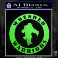 Wounded Warriors Decal Sticker CR Lime Green Vinyl 120x120
