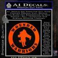 Wounded Warriors Decal Sticker CR Orange Vinyl Emblem 120x120