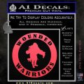 Wounded Warriors Decal Sticker CR Pink Vinyl Emblem 120x120
