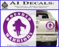 Wounded Warriors Decal Sticker CR Purple Vinyl 120x97
