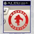 Wounded Warriors Decal Sticker CR Red Vinyl 120x120