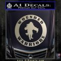 Wounded Warriors Decal Sticker CR Silver Vinyl 120x120