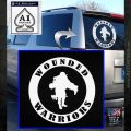 Wounded Warriors Decal Sticker CR White Emblem 120x120