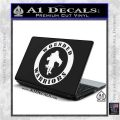 Wounded Warriors Decal Sticker CR White Vinyl Laptop 120x120