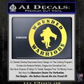 Wounded Warriors Decal Sticker CR Yelllow Vinyl 120x120