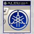 Yamaha Motors Tuning Fork Decal Sicker D2 Blue Vinyl 120x120