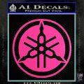 Yamaha Motors Tuning Fork Decal Sicker D2 Hot Pink Vinyl 120x120