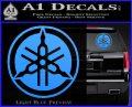 Yamaha Motors Tuning Fork Decal Sicker D2 Light Blue Vinyl 120x97