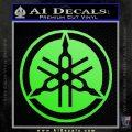 Yamaha Motors Tuning Fork Decal Sicker D2 Lime Green Vinyl 120x120
