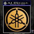 Yamaha Motors Tuning Fork Decal Sicker D2 Metallic Gold Vinyl 120x120