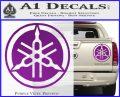 Yamaha Motors Tuning Fork Decal Sicker D2 Purple Vinyl 120x97