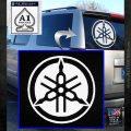 Yamaha Motors Tuning Fork Decal Sicker D2 White Emblem 120x120