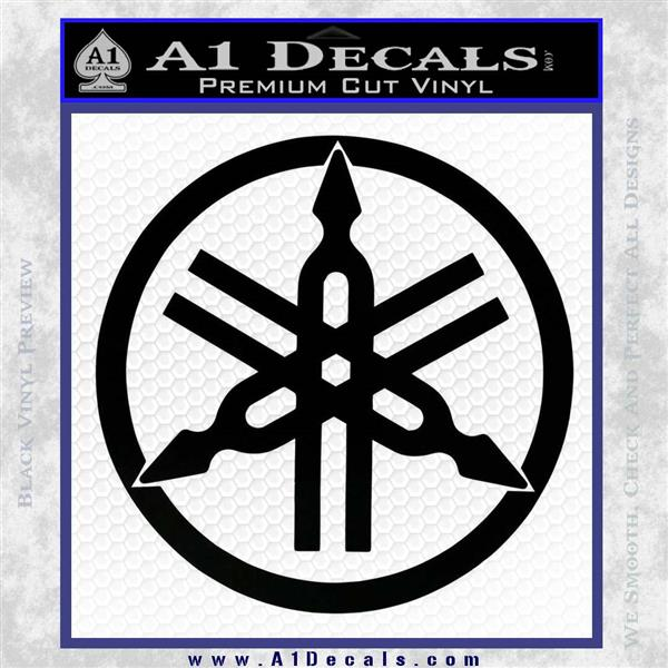 Yamaha motors tuning fork decal sticker d1 black logo emblem