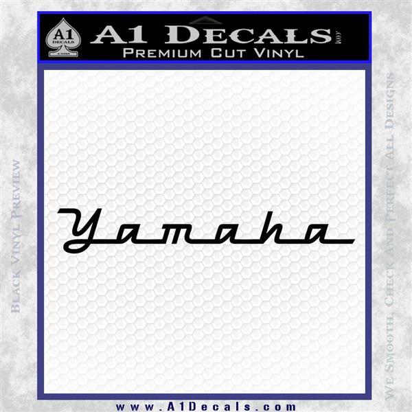 Yamaha VFA Decal Sticker Black Logo Emblem
