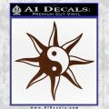 Yin Yang Sun Decal Sticker BROWN Vinyl 120x120