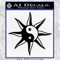 Yin Yang Sun Decal Sticker Black Vinyl 120x120