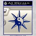 Yin Yang Sun Decal Sticker Blue Vinyl 120x120