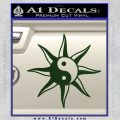 Yin Yang Sun Decal Sticker Dark Green Vinyl 120x120