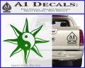 Yin Yang Sun Decal Sticker Green Vinyl Logo 120x97