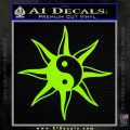 Yin Yang Sun Decal Sticker Lime Green Vinyl 120x120