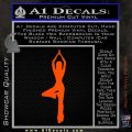 Yoga Girl Decal Sticker D8 Orange Vinyl Emblem 120x120