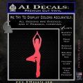 Yoga Girl Decal Sticker D8 Pink Vinyl Emblem 120x120