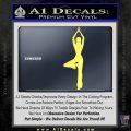 Yoga Girl Decal Sticker D8 Yelllow Vinyl 120x120
