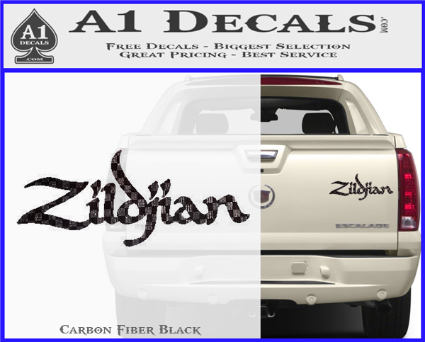 Zildjian cymbals decal sticker carbon fiber black 120x97