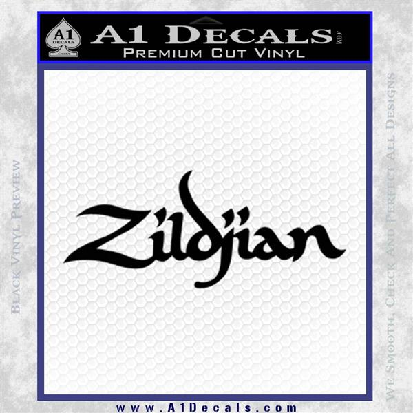Zildjian cymbals logo decal sticker black logo emblem