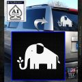 elephant squirting water window DLB Decal Sticker White Emblem 120x120