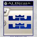x2 LEBRON KING JAMES New Logo MiamiI Heat High DLB Decal Sticker Blue Vinyl 120x120