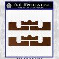 x2 LEBRON KING JAMES New Logo MiamiI Heat High DLB Decal Sticker Brown Vinyl 120x120