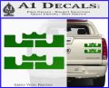 x2 LEBRON KING JAMES New Logo MiamiI Heat High DLB Decal Sticker Green Vinyl 120x97