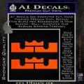 x2 LEBRON KING JAMES New Logo MiamiI Heat High DLB Decal Sticker Orange Vinyl Emblem 120x120