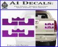 x2 LEBRON KING JAMES New Logo MiamiI Heat High DLB Decal Sticker Purple Vinyl 120x97