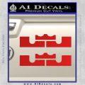 x2 LEBRON KING JAMES New Logo MiamiI Heat High DLB Decal Sticker Red Vinyl 120x120