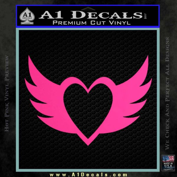 Heart With Wings Decal Sticker A1 Decals
