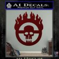 Mad Max Fury Road Emblem Decal Sticker Dark Red Vinyl 120x120