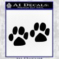 Paw Print Decal Sticker Black 2 pk Vinyl Black 120x120