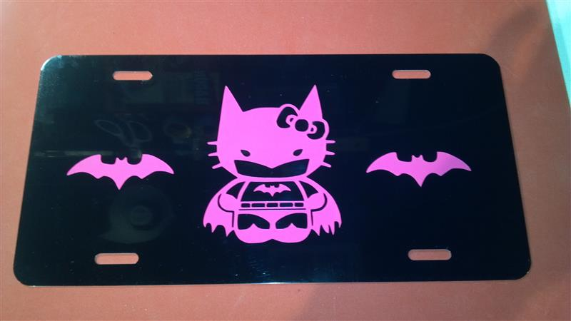 hello kitty batman liscence plate tag 2
