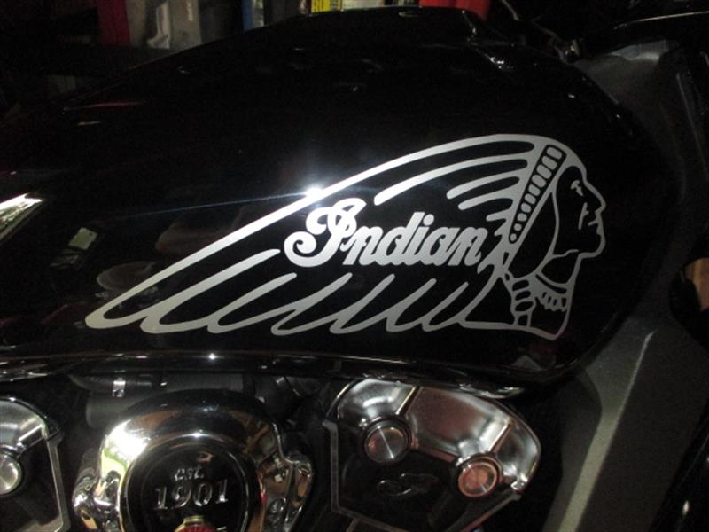 indian motorcycle tank silver 2