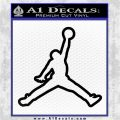 Air Jordan Jumpman Outline Decal Sticker Black Vinyl Logo Emblem 120x120