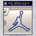 Air Jordan Jumpman Outline Decal Sticker Blue Vinyl 120x120