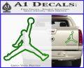 Air Jordan Jumpman Outline Decal Sticker Green Vinyl 120x97