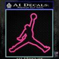 Air Jordan Jumpman Outline Decal Sticker Hot Pink Vinyl 120x120