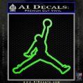 Air Jordan Jumpman Outline Decal Sticker Lime Green Vinyl 120x120